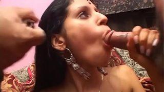 horny desi boy brings his aunty to a porn casting